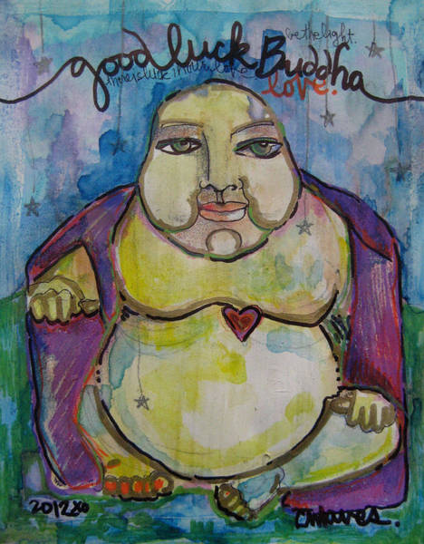 Painting - Good Luck Buddha by Laurie Maves ART