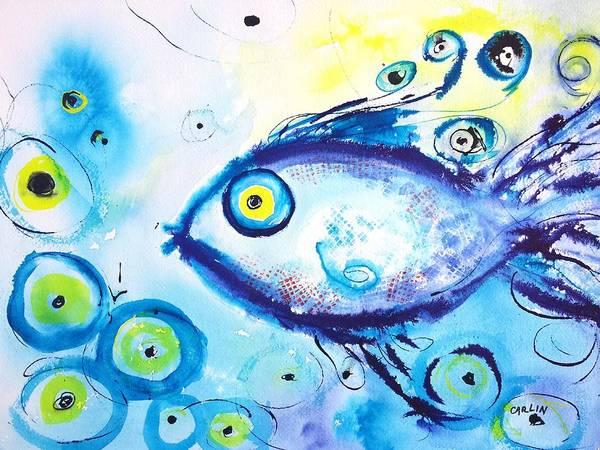 Good Luck Fish Abstract Art Print