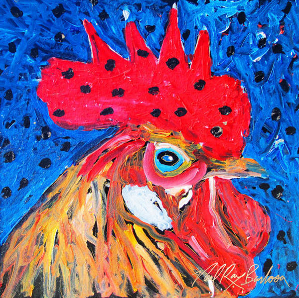 Painting - Good Luck Rooster by Neal Barbosa