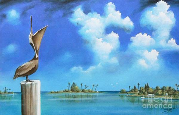 Susi Wall Art - Painting - Good Morning Florida by Artist ForYou