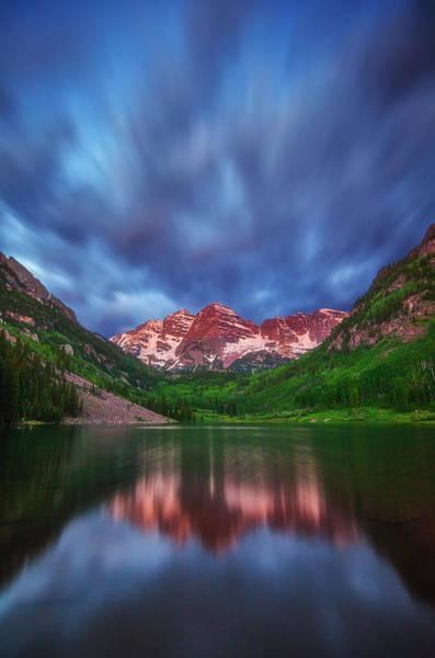 Colorado Sunrise Photograph - Good Morning Maroon by Darren  White