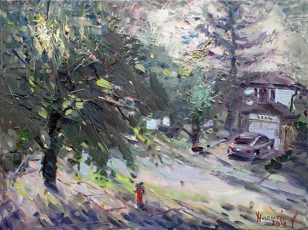 Neighborhood Painting - Good Morning Neighbor by Ylli Haruni