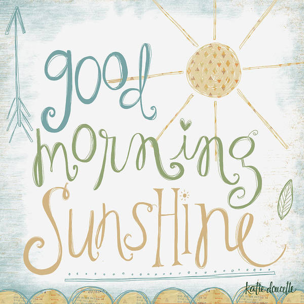 Nursery Painting - Good Morning Sunshine by Katie Doucette