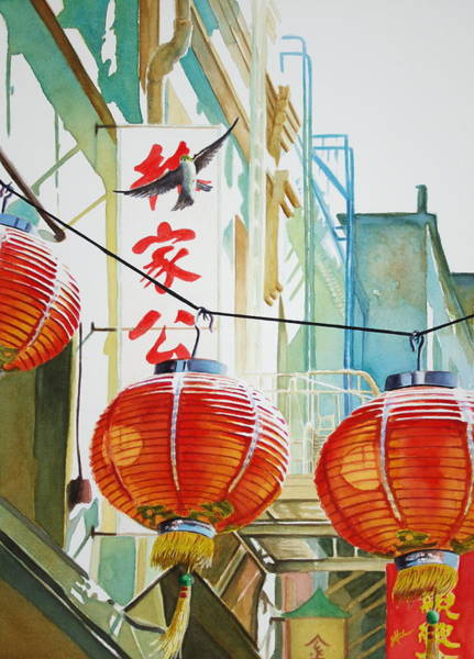 Painting - Good News In Chinatown by Greg and Linda Halom