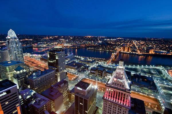 Photograph - Good Night Cincinnati by Russell Todd