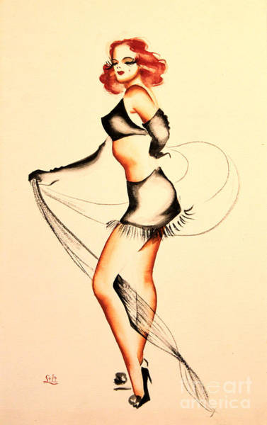 Drawing - Good Night Ladies Dancer by Art By Tolpo Collection