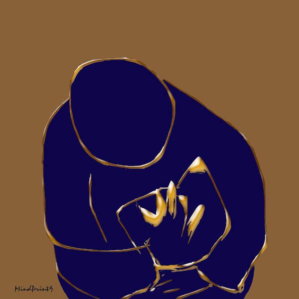 Reader Digital Art - Good Read by Asok Mukhopadhyay