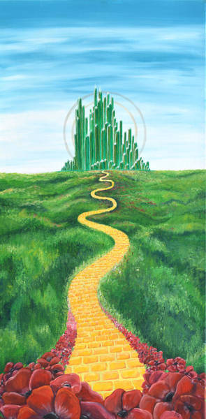 Yellow Brick Road Wall Art - Painting - Goodbye Yellow Brick Road by Meganne Peck