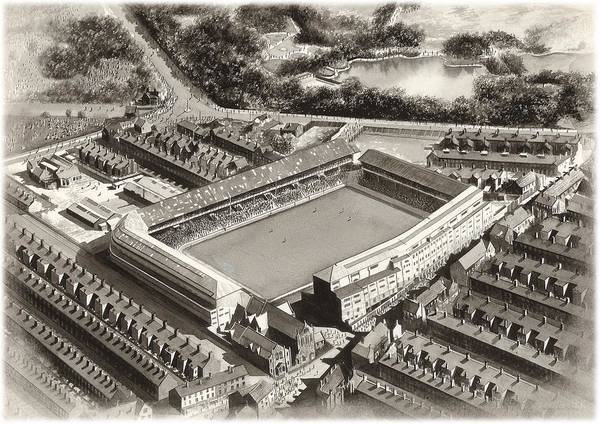 Wall Art - Painting - Goodison Park 1955 - Everton by Kevin Fletcher