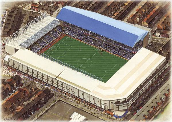 Wall Art - Painting - Goodison Park - Everton by Kevin Fletcher