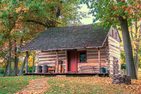 Photograph - Goodrich-landow Log Cabin by Guy Whiteley