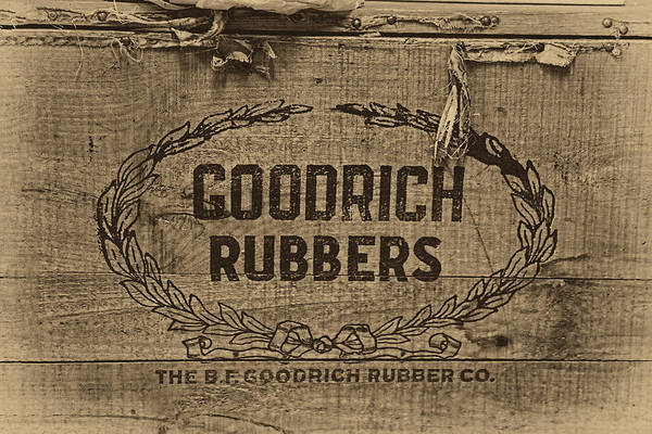 Wooden Shoe Photograph - Goodrich Rubbers Boot Box by Tom Mc Nemar