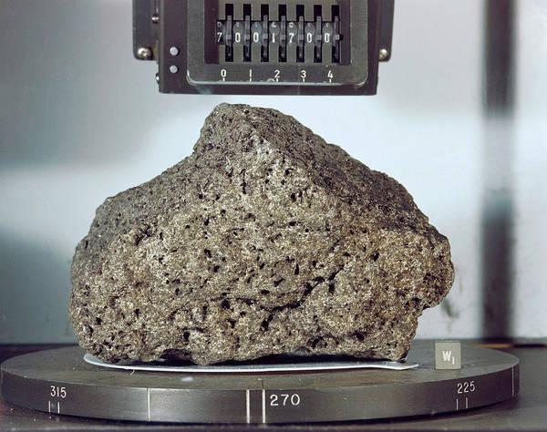 1972 Photograph - 'goodwill' Lunar Rock Sample by Nasa