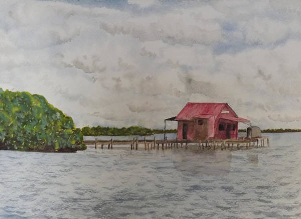 Captiva Island Painting - Goodyear Fish House #1 by Gary Thomas