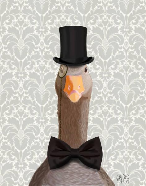 Goose Digital Art - Goose Distinguished Goose by Kelly McLaughlan