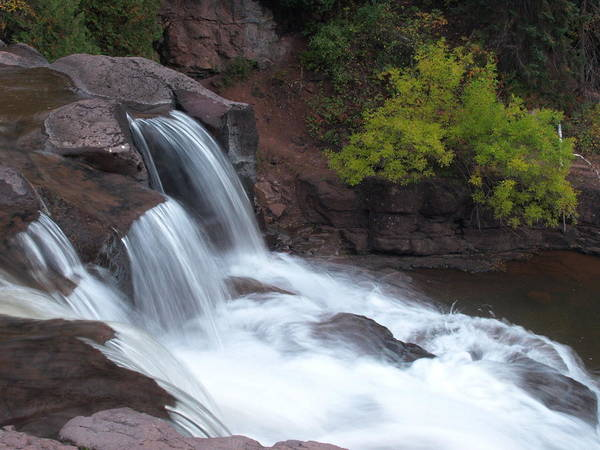 Photograph - Gooseberry Falls In Slow Motion by James Peterson