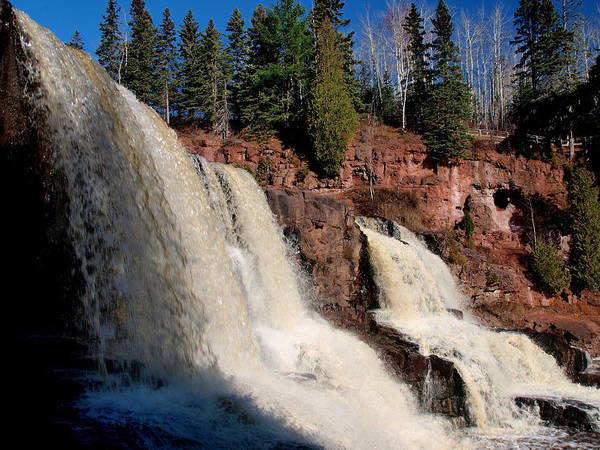 Photograph - Gooseberry Falls by James Peterson