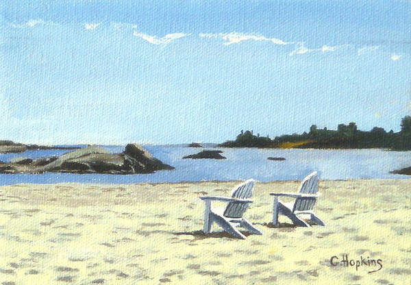 Wall Art - Painting - Gooseberry Beach Newport Rhode Island by Christine Hopkins