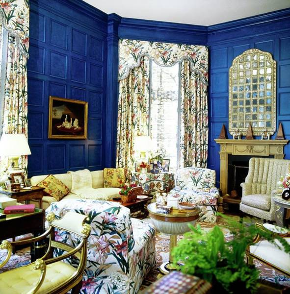 Antique Furniture Photograph - Gordon Getty's Library by Horst P. Horst