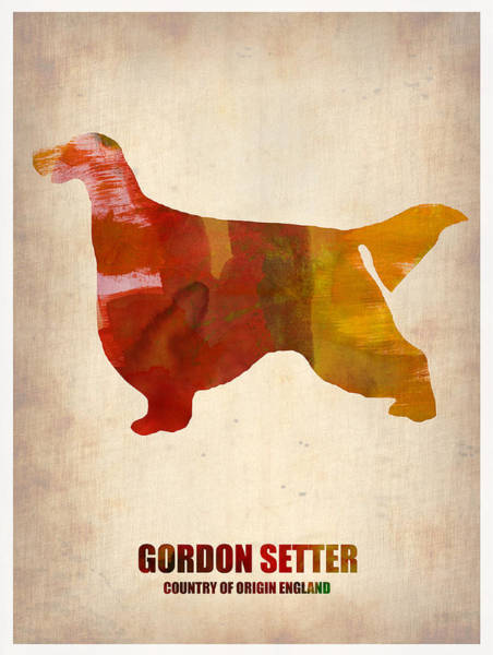 Wall Art - Painting - Gordon Setter Poster 1 by Naxart Studio