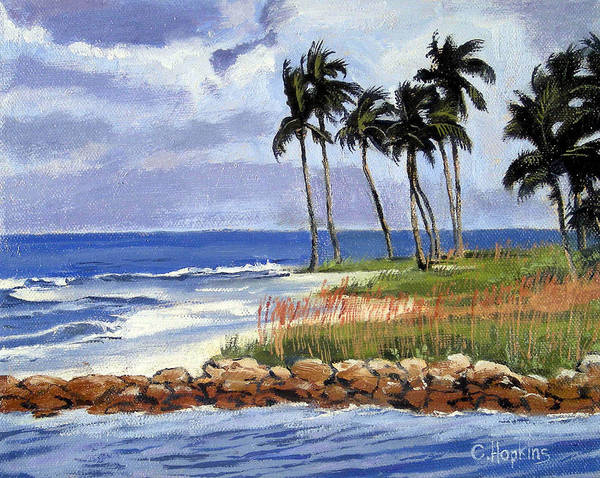 Wall Art - Painting - Gordons Pass Naples Florida by Christine Hopkins