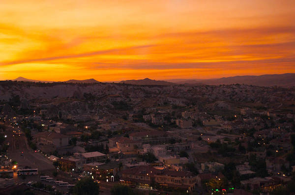 Romantic Wall Art - Photograph - Goreme Sunset by Ernesto Cinquepalmi
