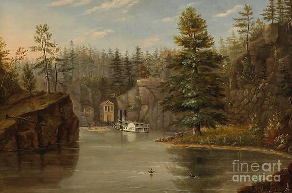 Raft Wall Art - Painting - Gorge Of The St Croix by Henry Lewis
