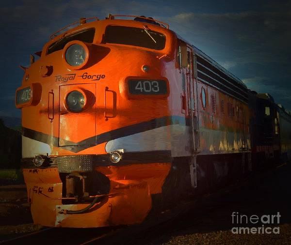 Mixed Media - Gorge Train by Jerry L Barrett