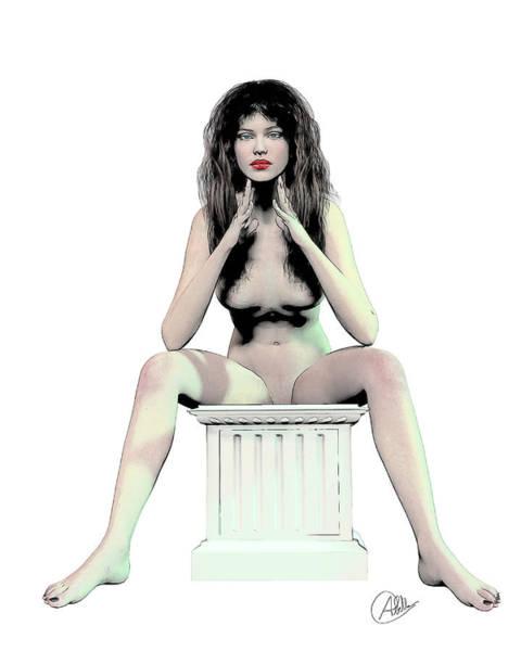 Female Nude Digital Art - Woman Nude by Quim Abella