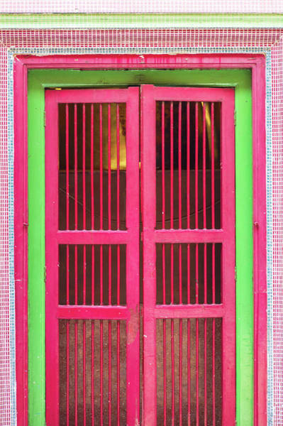 Handle Photograph - Gorgeous Red China House Door Beautiful by Chuchart
