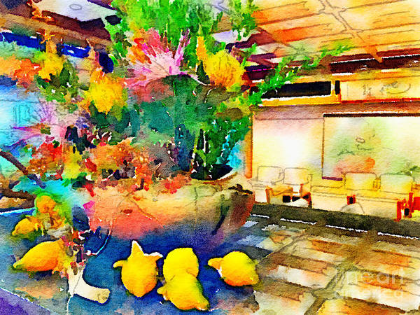 Digital Art - Gorgeous Welcome Flower Arrangement With Fruit by Beverly Claire Kaiya