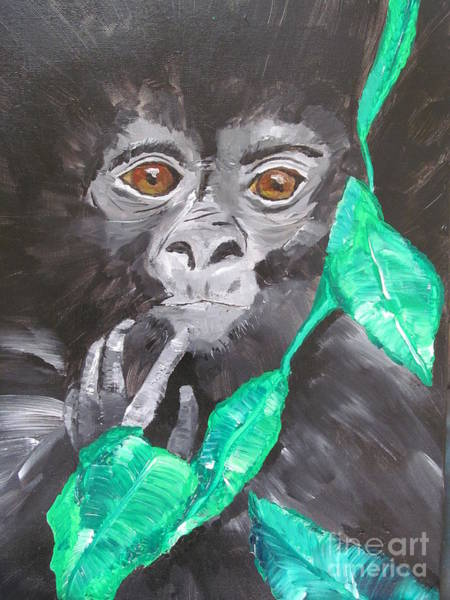 Baby Gorilla Painting - Gorilla Baby by Susan Voidets