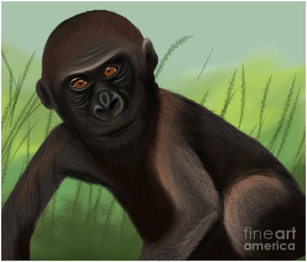 Gorilla Greatness Art Print