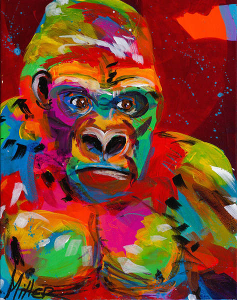 Gorilla Painting - Gorilla by Tracy Miller