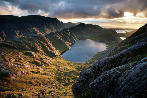 Beauty In Nature Photograph - Gorm Loch Mor And Fionn Loch Beyond by Feargus Cooney