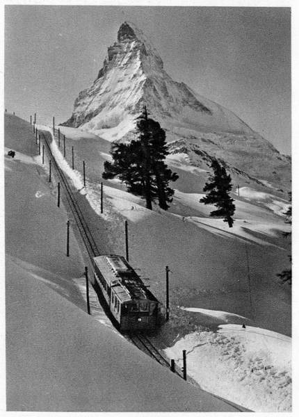 Electric Peak Wall Art - Photograph - Gornergrat Rack Railway by Cci Archives