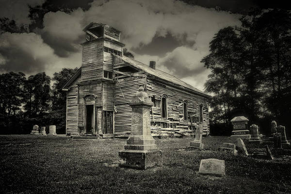 Graveyard Wall Art - Photograph - Gospel Center Church II by Tom Mc Nemar