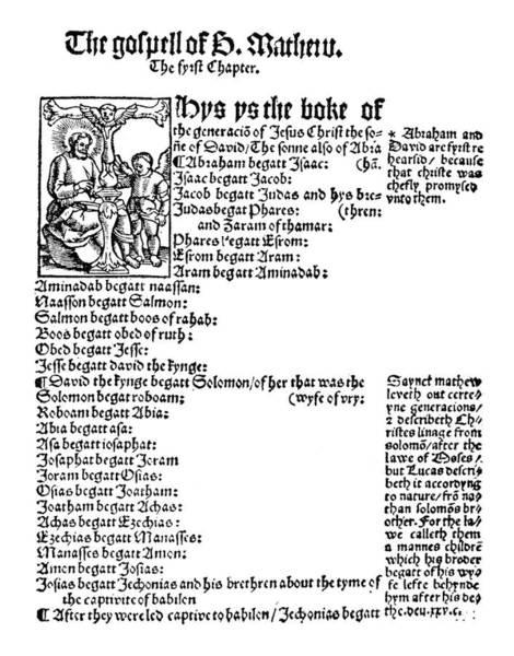 Wall Art - Painting - Gospel Of Matthew, 1525 by Granger