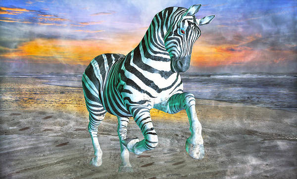 Surreal Mixed Media - Got My Stripes by Betsy Knapp