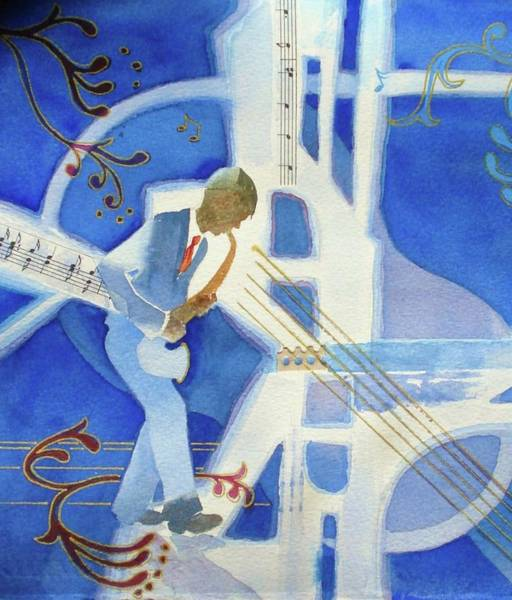 Sax Painting - Got The Blues by Marilyn Jacobson