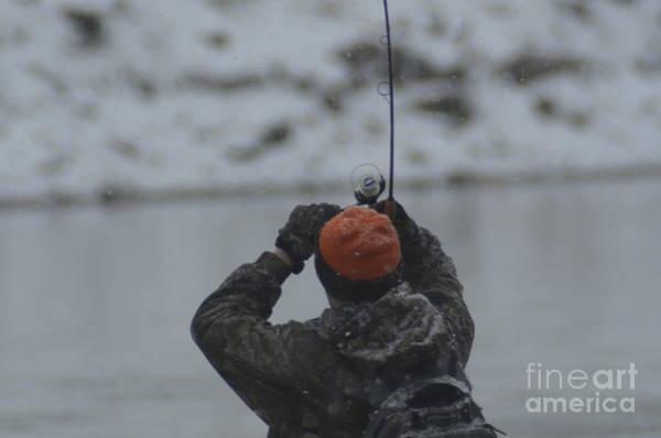 Photograph - Gotcha   Steelhead Fishing by Randy J Heath