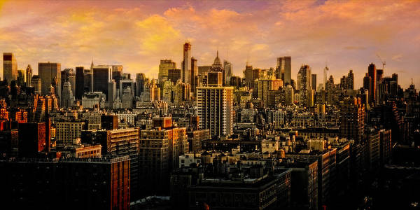 Photograph - Gotham Sunset by Chris Lord