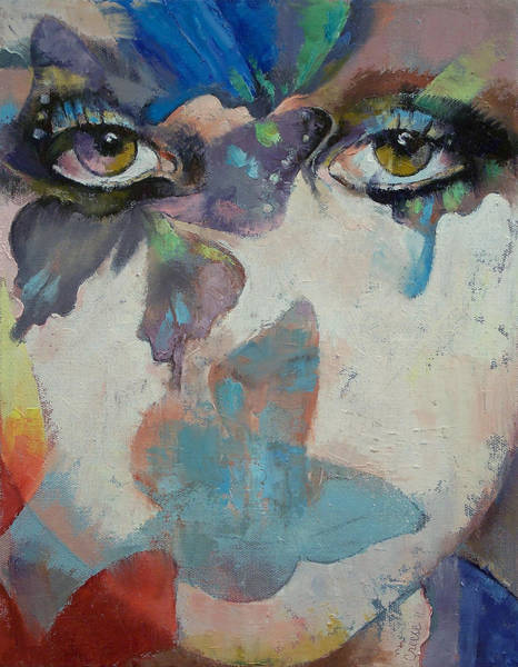Oil Painting - Gothic Butterflies by Michael Creese