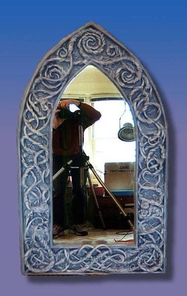 Ceramic Art - Gothic Celtic Frame by Charles Lucas