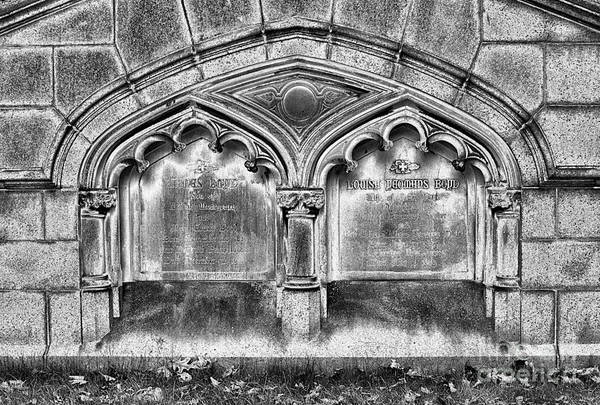 Photograph - Gothic Crypt Bw by Paul W Faust -  Impressions of Light