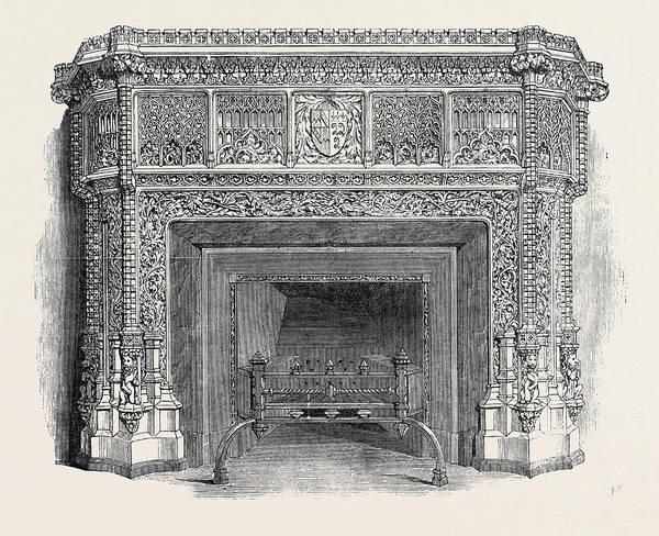 Wall Art - Drawing - Gothic Mantel Piece by English School
