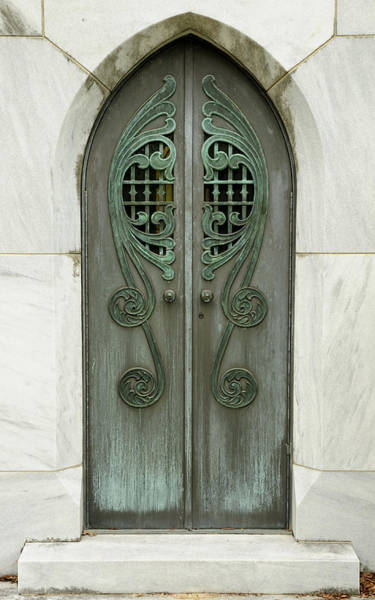 Photograph - Gothic Mausoleum Entrance by Bradford Martin