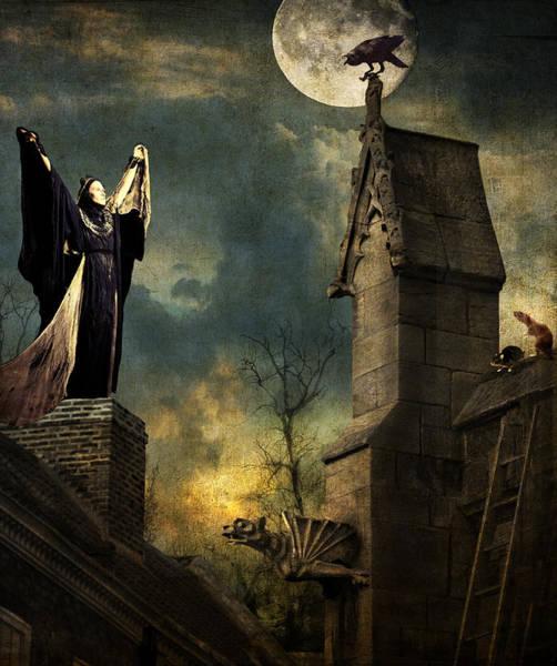 Gargoyle Digital Art - Gothic Queen by Sandra Selle Rodriguez