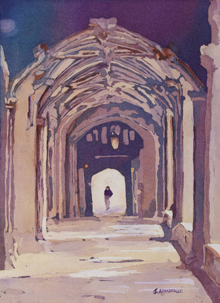 Archway Painting - Gothic Spector by Jenny Armitage