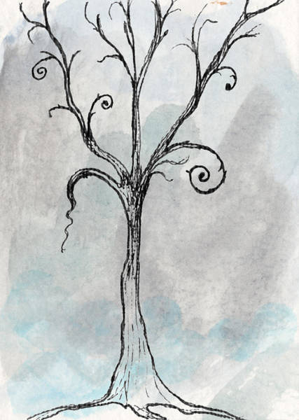 Tim Burton Wall Art - Digital Art - Gothic Tree by Jacquie Gouveia